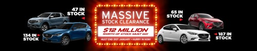 Massive Stock Clearance Banner
